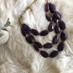 Chunky Necklace - Purple